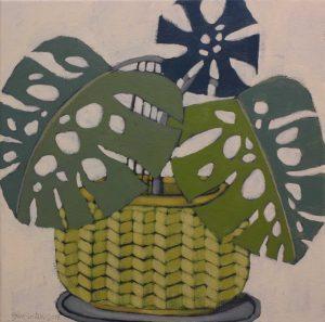 John Santucci_Snake Charmer_45 x 45cm_acrylic on canvas_$650