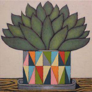 John Santucci_Test Pattern_45 x 45cm_acrylic on canvas_$650