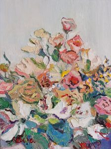 Rebeka Bruder_Blooming Pink_40 x 30 cm_oil on canvas_$480