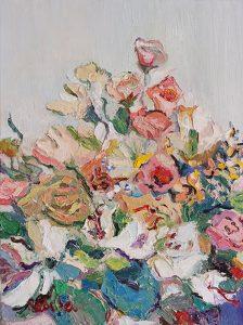 Rebeka Bruder_Blooming Pink_40 x 30 cm_oil on canvas_$480