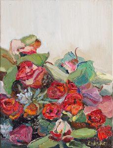 Rebeka Bruder_Blooming Red_40 x 30cm_ oil on canvas_$480