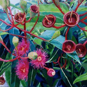 Sarah Waghorn_TALKING HEADS_50 x 50cm_oil on canvas board_$880