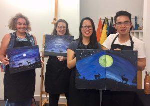 Paint and sip Art Event melbourne
